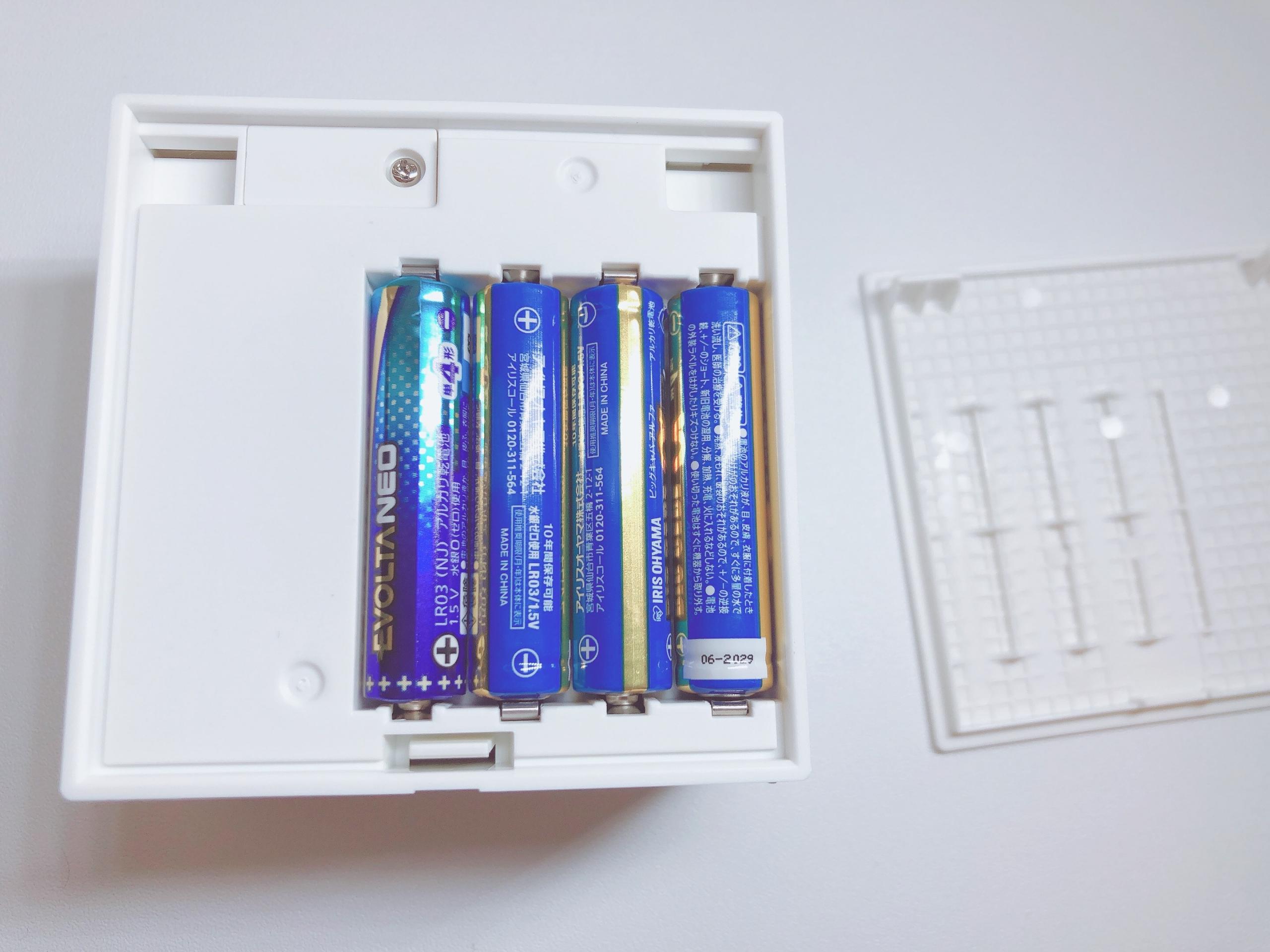 テプラlite 単4電池