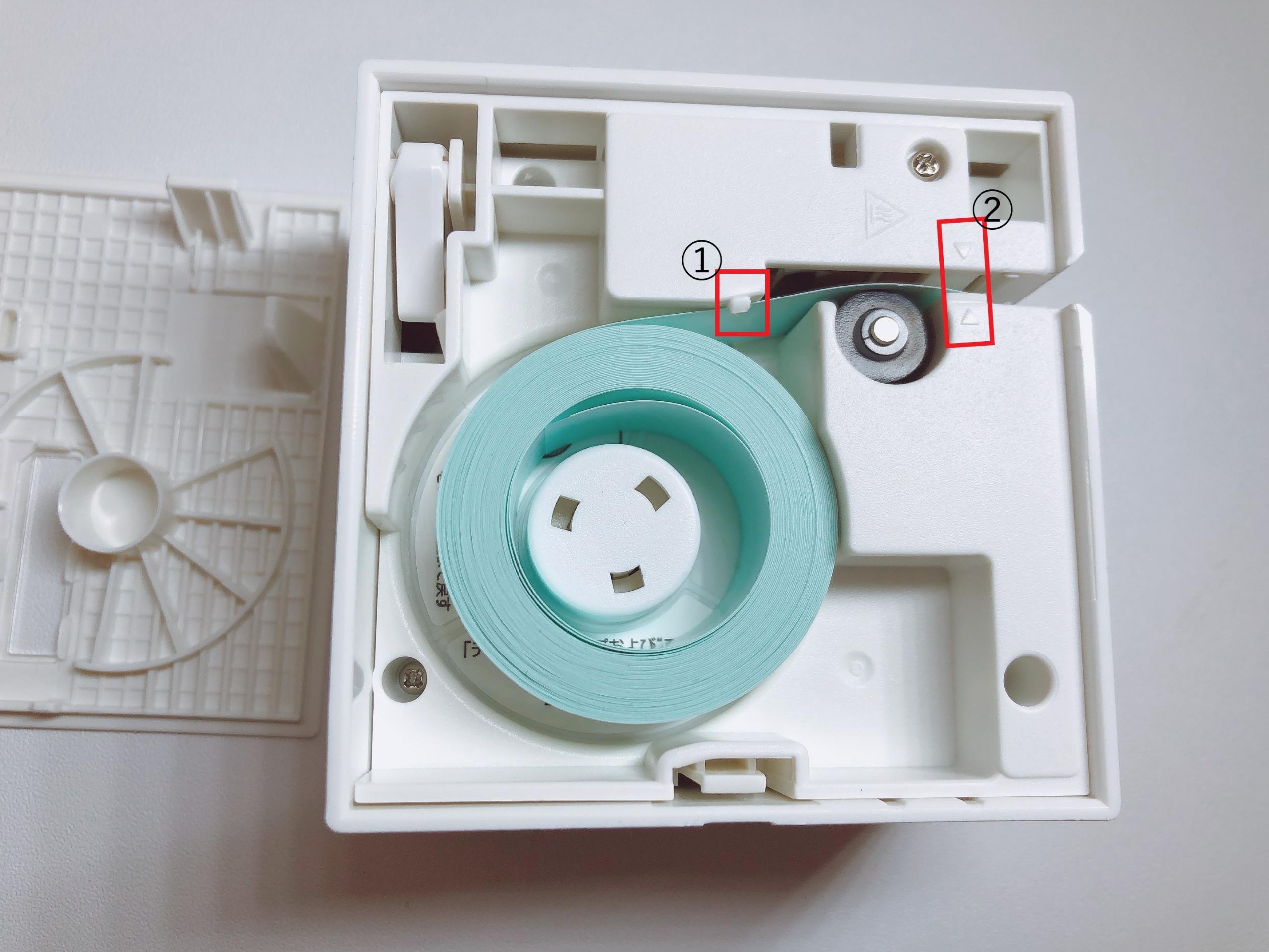 TEPRA liteのテープのセット方法