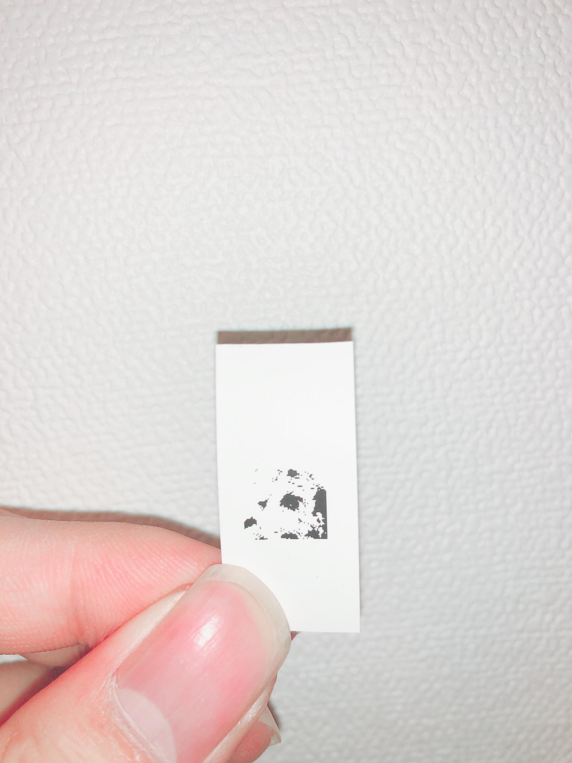 ラベルプリンターで犬の写真を印刷