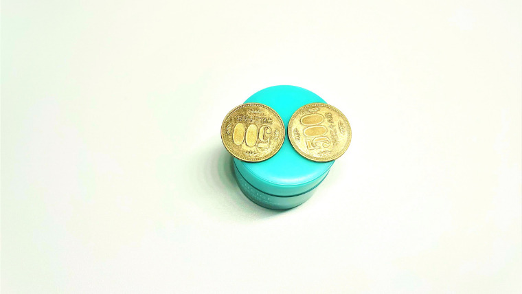 LANEIGE ミントチョコのサイズは500円玉2枚
